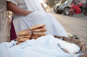 Las empanadas blanqueadas, rellenas con dulce de cayota y cubiertas con merengue, son típicas de San Lorenzo.