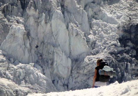 Ya cerquita del glaciar