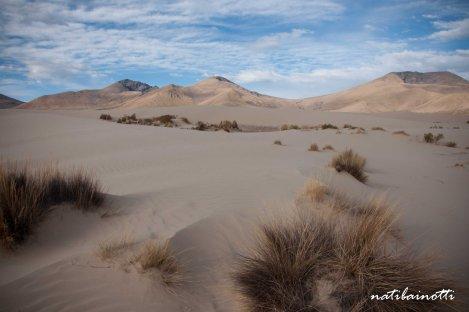 Llegando a Arenales, la dunas de arena.
