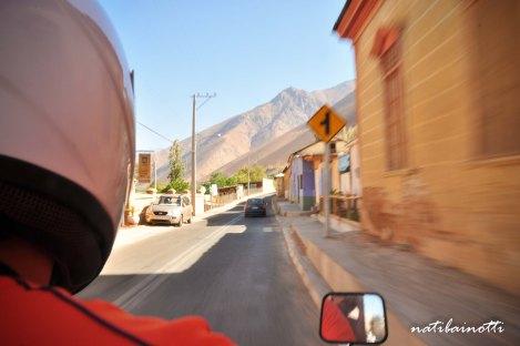 En moto a Horcón