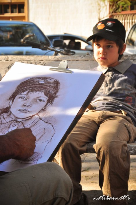 Artista callejero en Vicuña