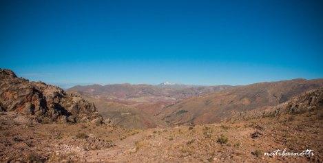 Primeras vistas del valle y la cordillera.