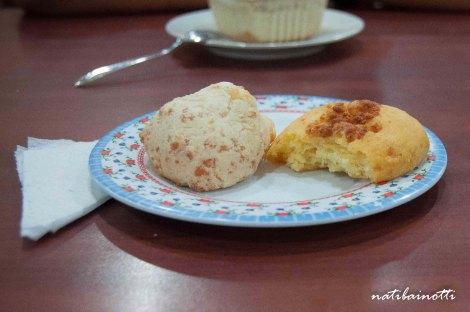 Cuñapé y empanada de maíz